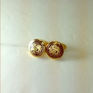 Other - Chinese Dragon Gold Plated Cufflinks